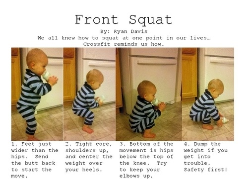 front squat baby
